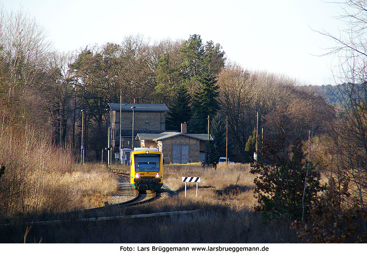 ODEG Regio Shuttle in Alt Hüttendorf in Brandenburg